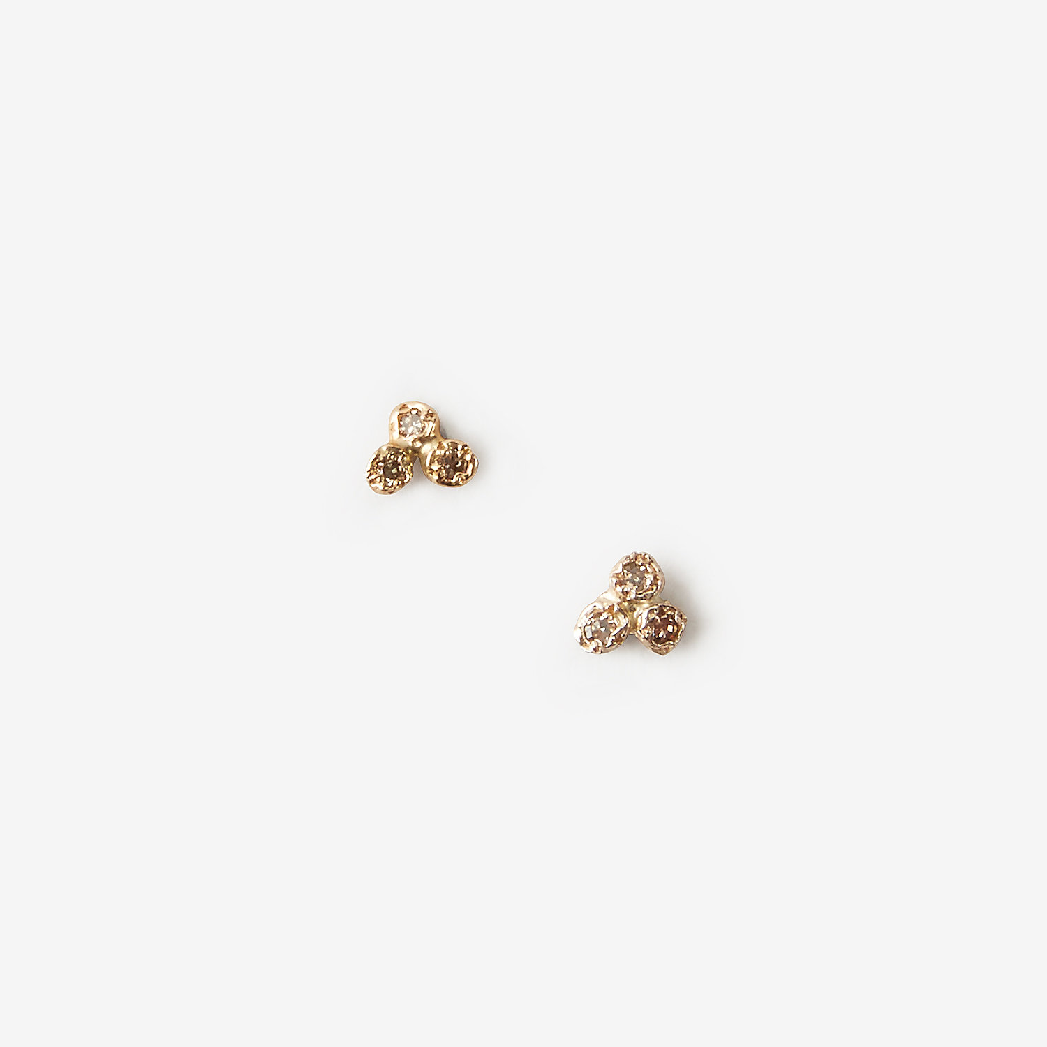 6 DIAMOND CLUSTER EARRINGS