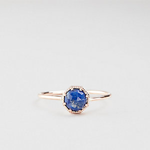 LAPIS CROWN BEZEL RING