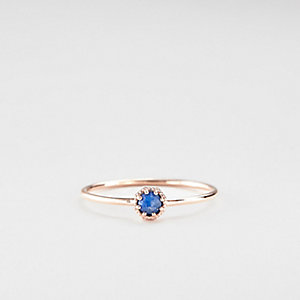 PETITE LAPIS CROWN BEZEL RING