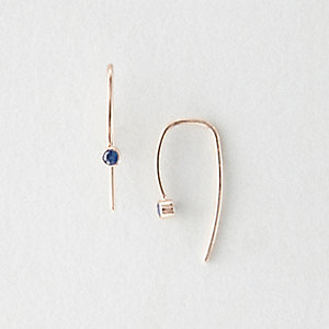 SAPPHIRE HOOK EARRINGS