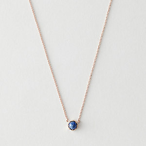 LAPIS CROWN BEZEL NECKLACE