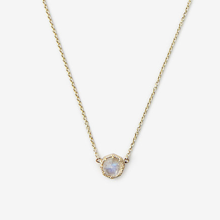 CROWN BEZEL NECKLACE MOONSTONE