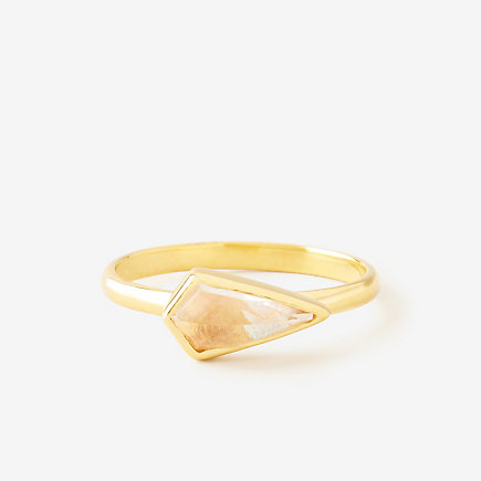JADA CRYSTAL QUARTZ RING
