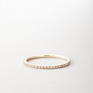 WHITE DIAMOND AXIS RING
