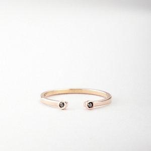 DOUBLE BLACK DIAMOND RING