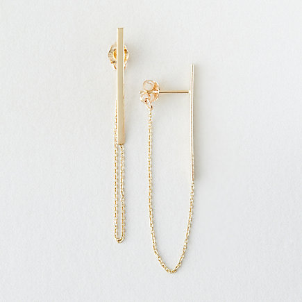 LONG STICK & CHAIN EARRINGS
