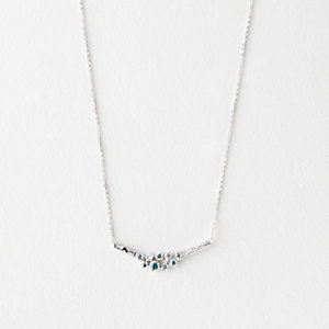 9 BLUE DIAMOND CLUSTER NECKLACE