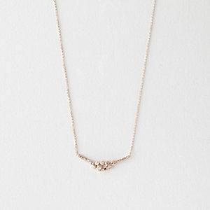 9 DIAMOND CLUSTER NECKLACE