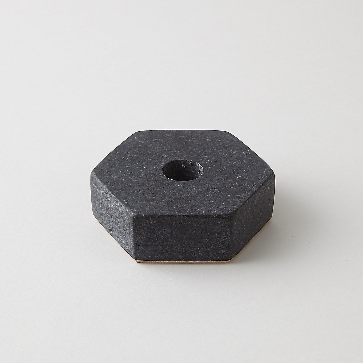 GRANITE HEXAGON CANDLE HOLDER
