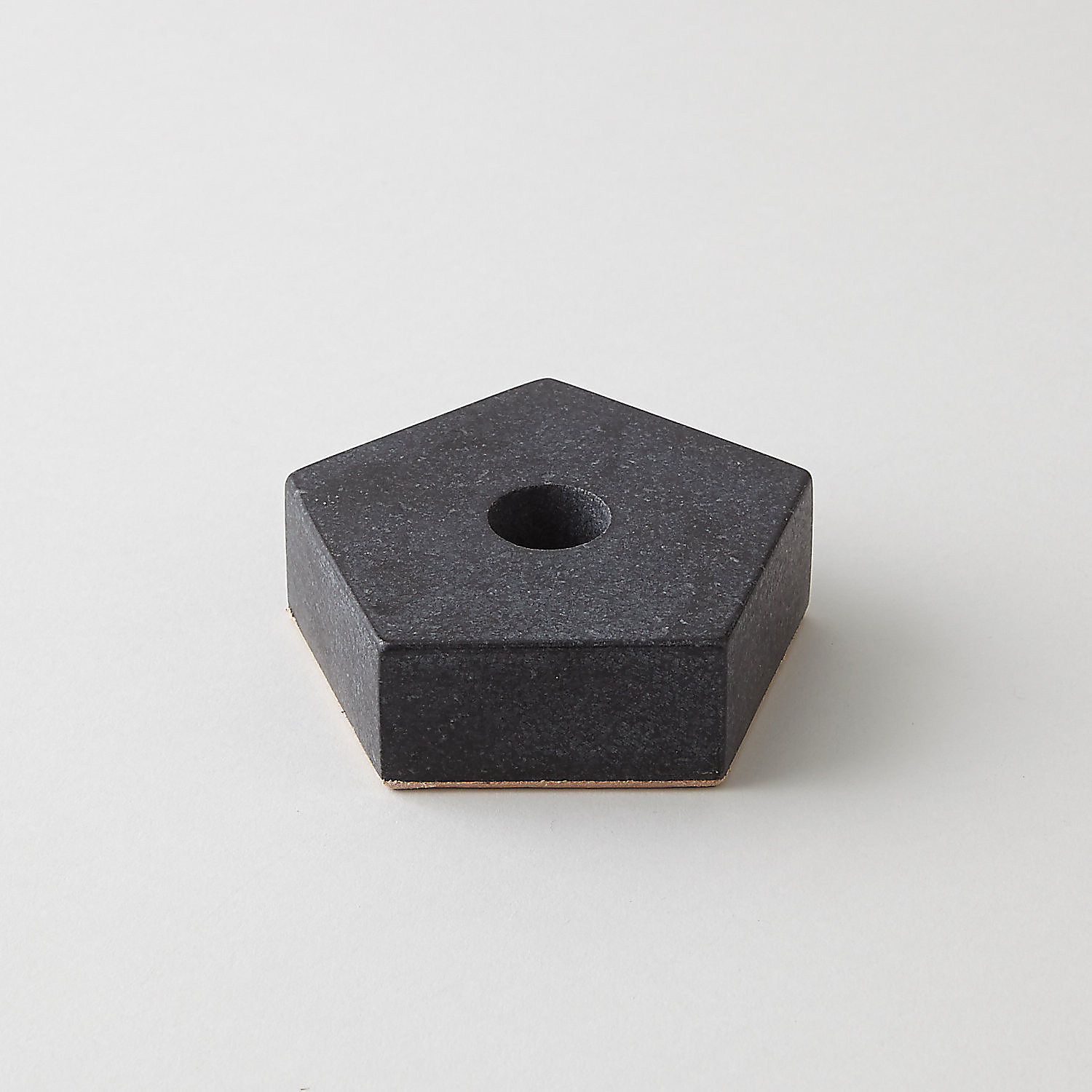 GRANITE PENTAGON CANDLE HOLDER