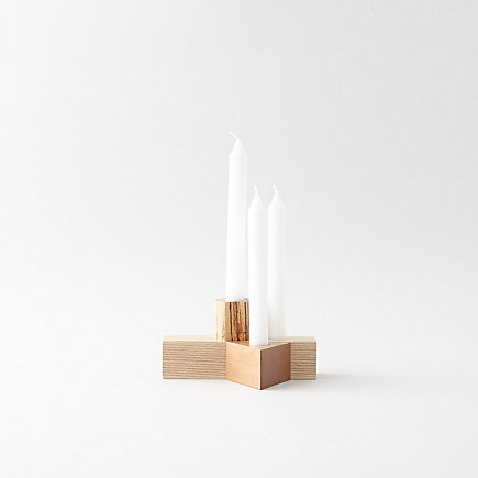 GEOMETRY SET CANDLESTICK HOLDERS 4