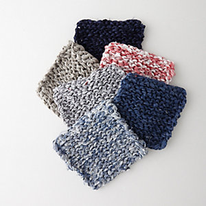 LINEN TAPE KNITTED MAT