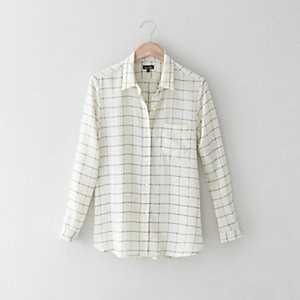 Silk Boyfriend Shirt
