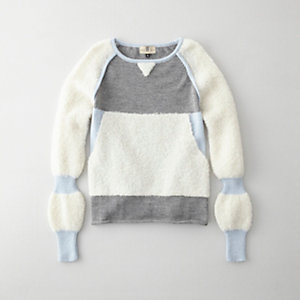 COLOR BLOCK ALPACA SWEATER
