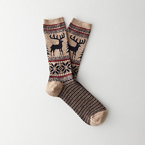 Deer Snow Crew Sock