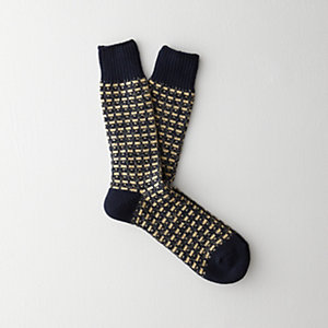 Broken Stripe Crew Sock