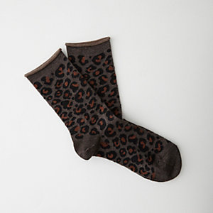 LEOPARD WOOL SOCKS