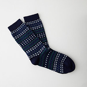 JACQUARD WOOL SILK SOCK