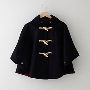 CROPPED WOOL CAPE