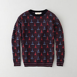 KENNETH JACQUARD SWEATER