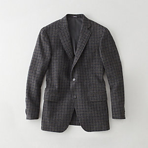 PLAID WORSTED WOOL BLAZER