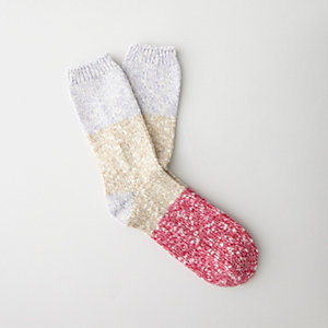 SLUB COLOR BLOCK SOCKS
