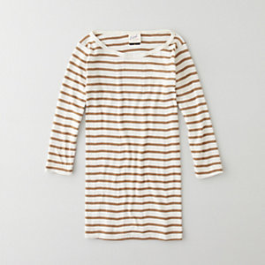 STRIPED BOATNECK 3/4 TEE