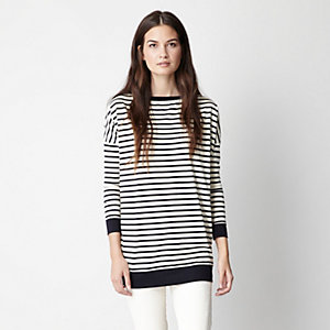 CHARLIE STRIPED TUNIC TEE