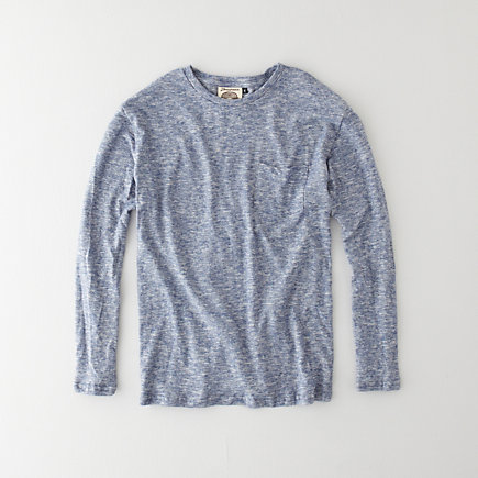Long Sleeve Yarn Dyed Pocket T-Shirt