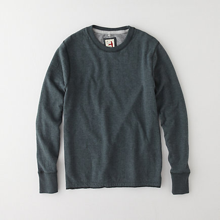 THERMAL CREWNECK PULLOVER