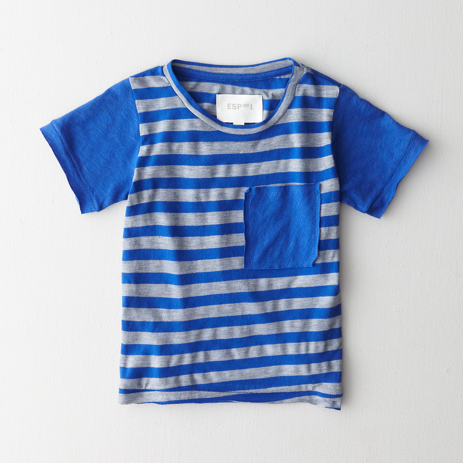 PEAK STRIPE POCKET TEE