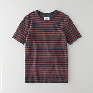 DOUBLE KNIT STRIPE SS TEE