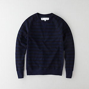 Beauty & Youth Striped Crew Sweatshirt