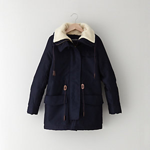 JULIE AND CANDY FLEECE LINED PARKA