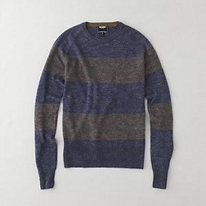 STRIPED MELANGE PULLOVER
