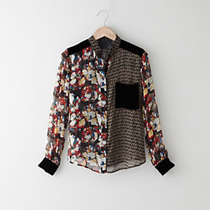 DULCET STAND COLLAR BLOUSE