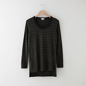 Striped Parker Shirttail Tee