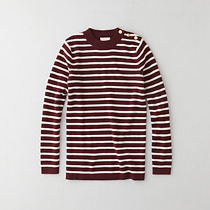 MADISON STRIPED CASHMERE SWEATER