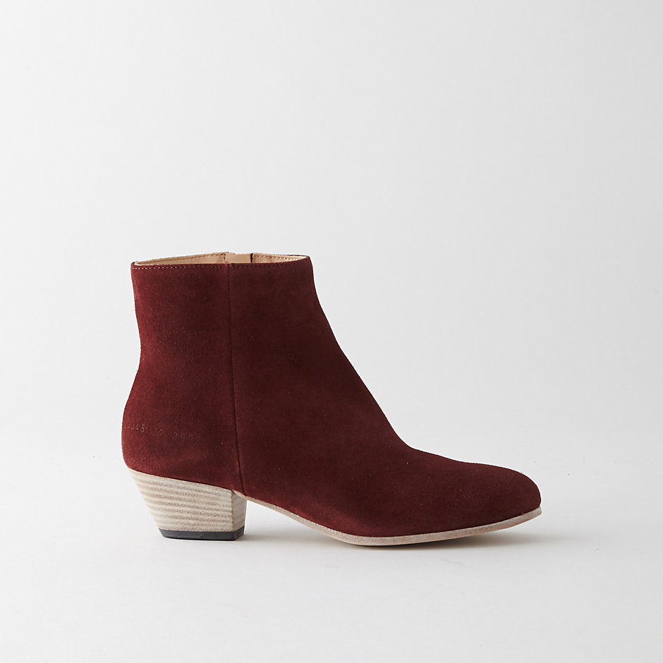 Zip Suede Ankle Boot