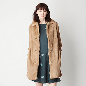 NEW DOLLY RABBIT FUR COAT