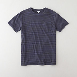 STRIPED REVERSE SEAM POCKET T-SHIRT