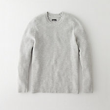 RIBBED SLEEVE CREWNECK