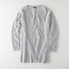 V NECK BOYFRIEND SWEATER