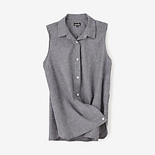 SLEEVELESS CROSSOVER SHIRT