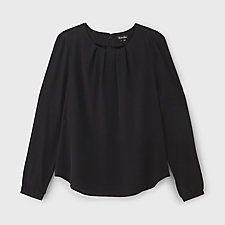 PLEATED GARNELL TOP