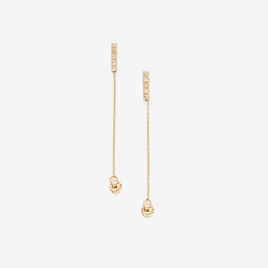 10 DIA STICK CHAIN EARRING