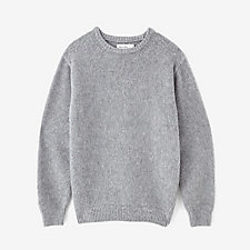 LAMBSWOOL SHAGGY CREWNECK SWEATER