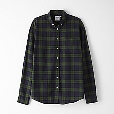 LEISURE HERRINGBONE LARGE CHECK SHIRT