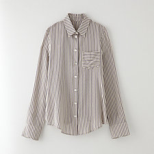 STRIPED SILK CREPE SHIRT