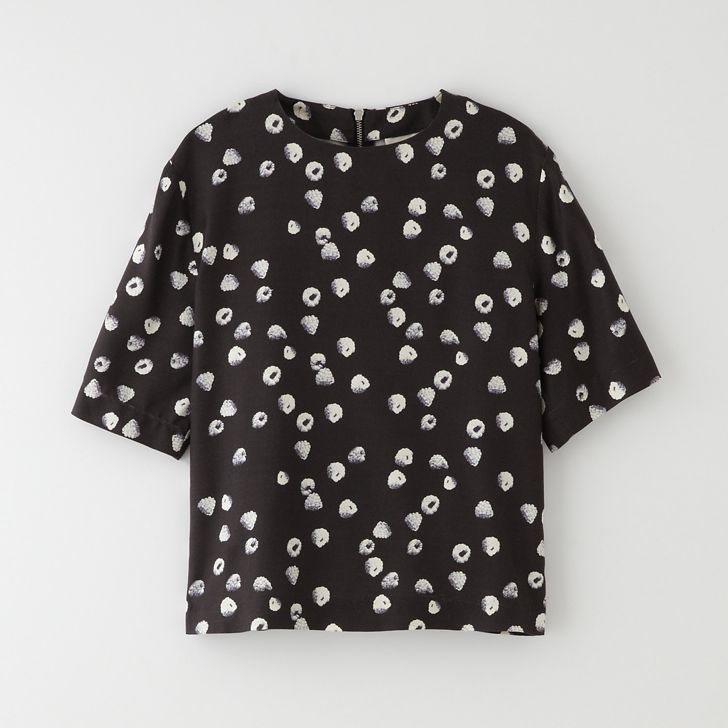 RASPBERRIES T-SHIRT W/ BACK ZIP